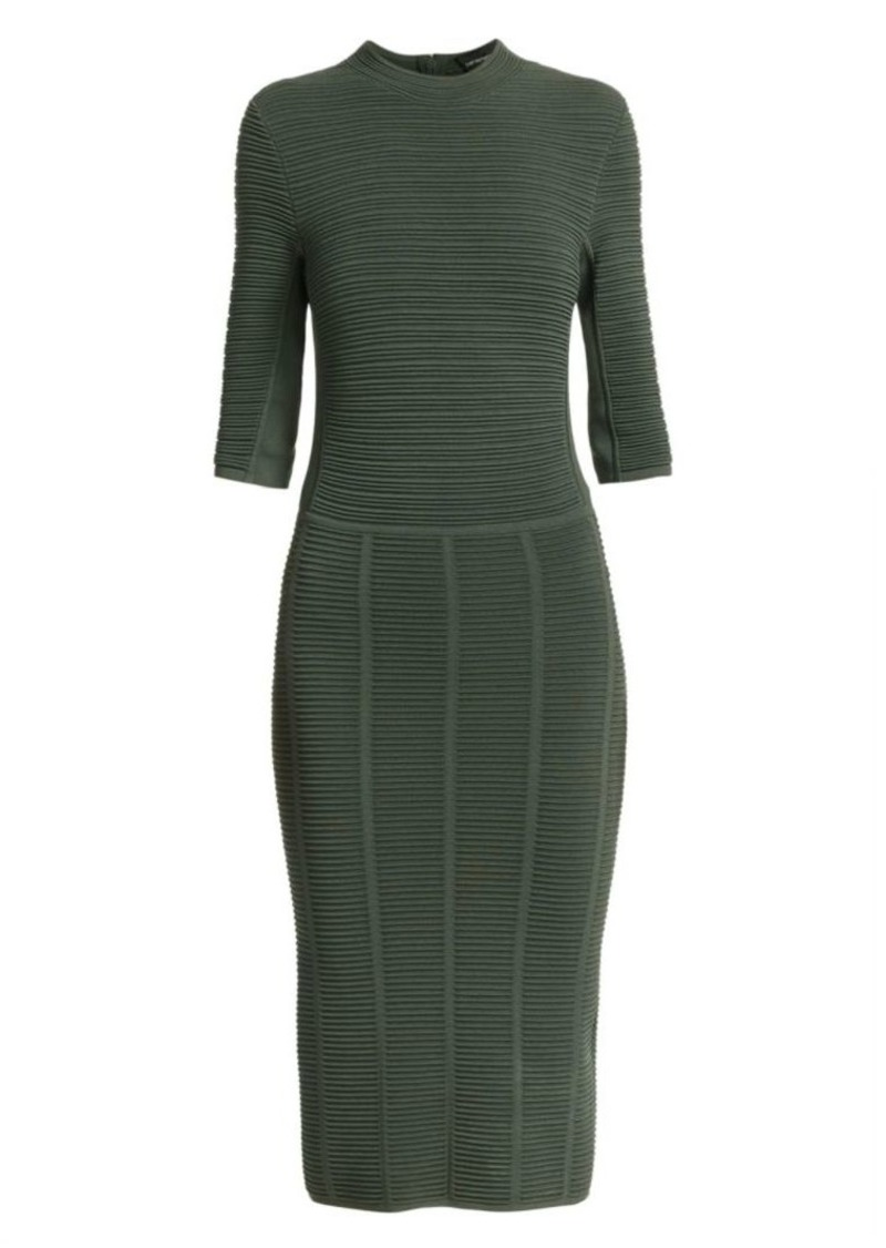 Armani Ottoman Half-Sleeve Sheath Dress