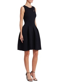 Armani Ottoman-Knit Fit-&-Flare Dress