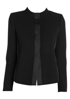 Armani Ottoman Stretch Cropped Collar Jacket
