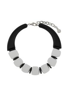 Armani oversized acrylic bead necklace