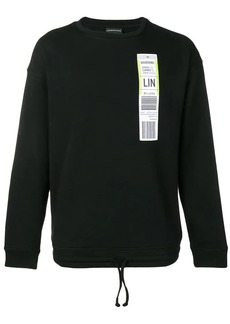 Armani oversized boarding pass sweatshirt