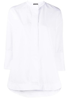 Armani oversized cropped sleeve shirt