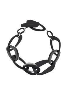 Armani oversized hoop necklace