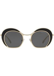 Armani oversized round frame sunglasses