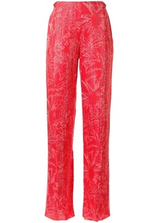 Armani palm tree print trousers