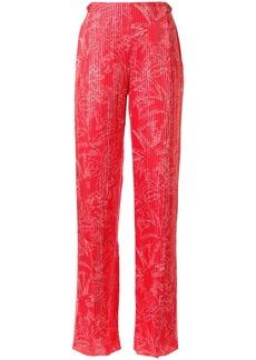 Armani palm tree print trousers