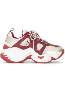 Armani panelled chunky sneakers