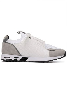 Armani panelled colour block sneakers