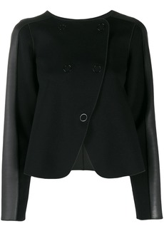 Armani panelled double-breasted coat