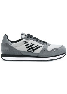 Armani panelled lace-up sneakers