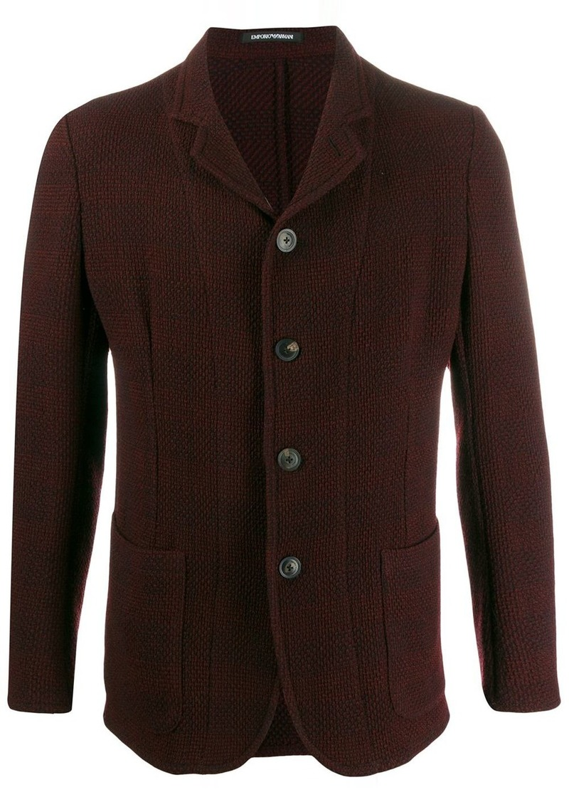 Armani panelled slim-fit jacket