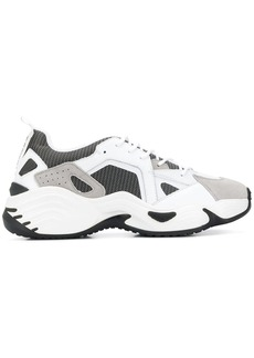 Armani panelled sneakers