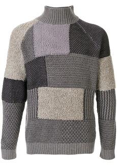 Armani patchwork knit jumper