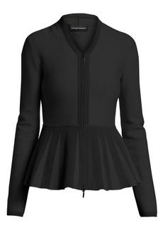 Armani Peplum Zip-Front Jacket