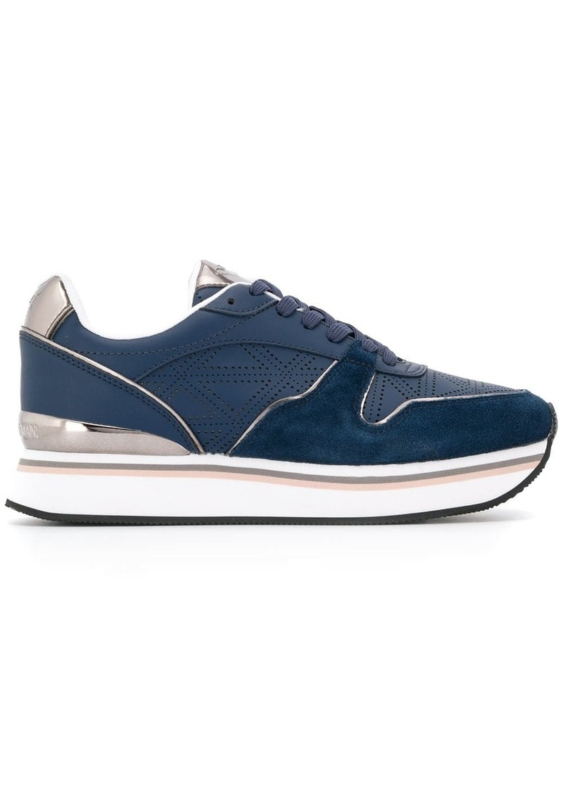Armani perforated sneakers