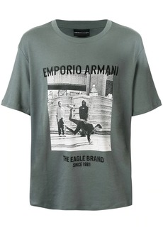 Armani photo print T-shirt