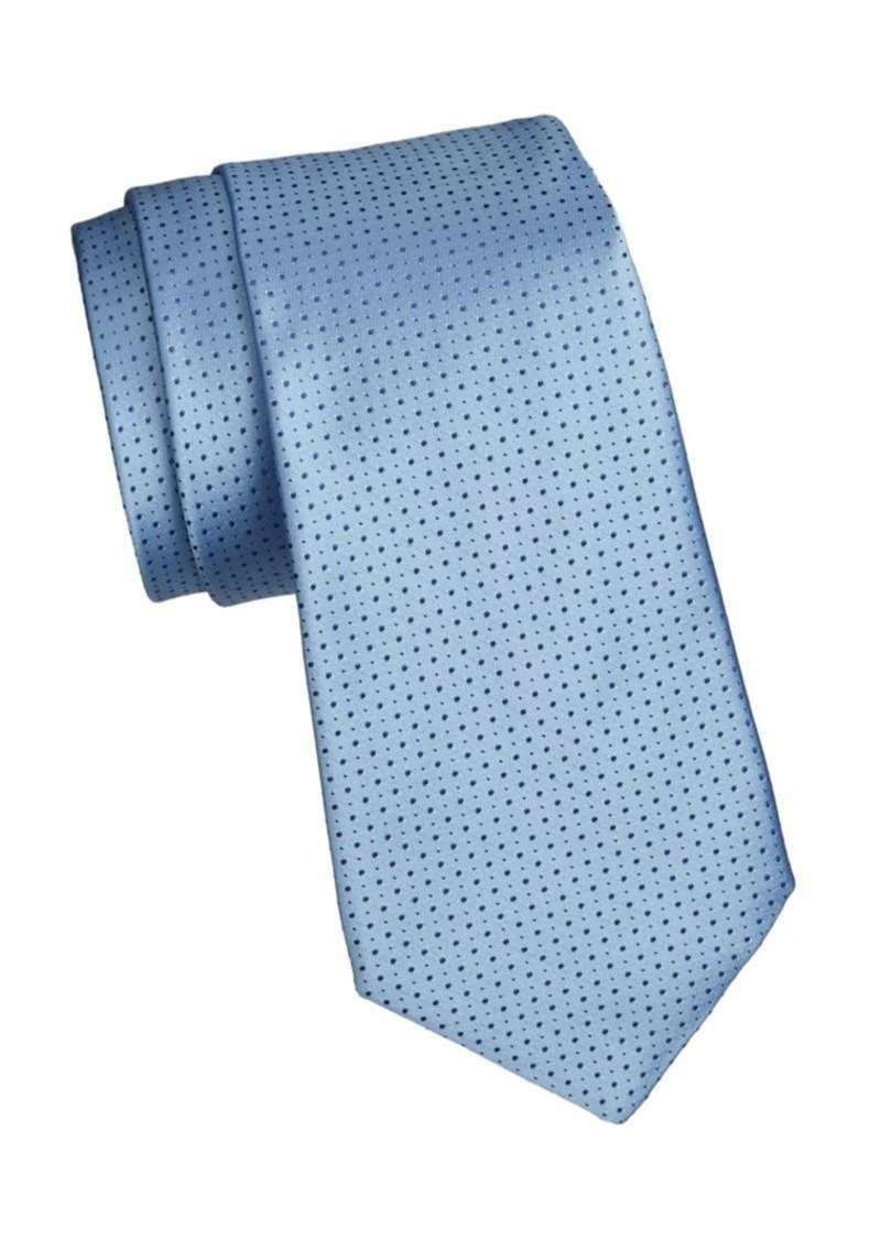 Armani Pindot Silk Tie