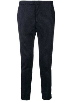 Armani pinstripe tapered trousers