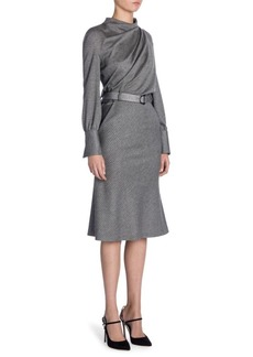 Armani Pinstripe Wool Dress