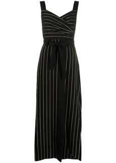 Armani pinstriped print dress