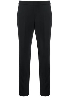 Armani pintuck slim-fit trousers