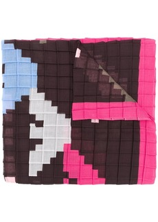 Armani pixelated logo scarf