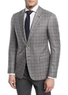 Armani Plaid Wool Sport Coat