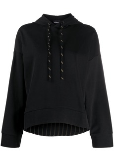 Armani plain cropped hoodie