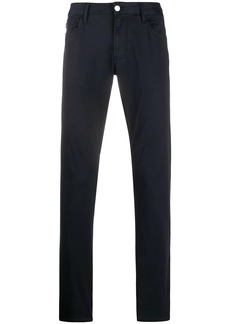 Armani plain slim-fit chinos