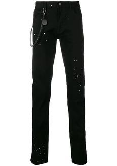 Armani plain splatter jeans
