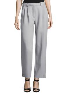 Armani Pleat-Front Straight-Leg Pants