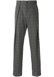 Armani pleated checked trousers