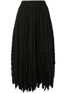 Armani pleated midi skirt