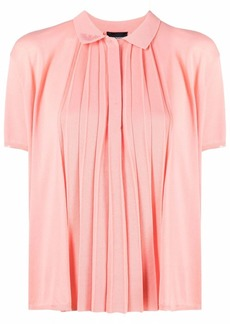 Armani pleated panel knitted top