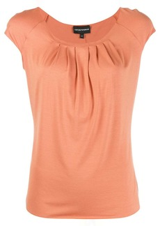 Armani pleated short-sleeve top