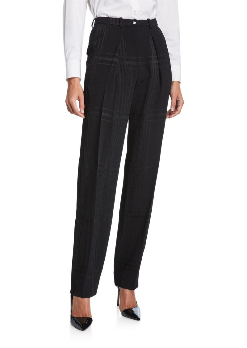 Armani Pleated Straight-Leg Trousers