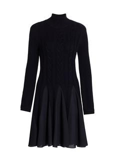 Armani Pleated Turtleneck Sweater Dress
