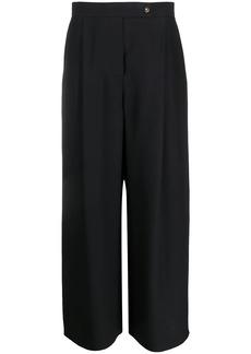 Armani pleated wide-leg silk trousers
