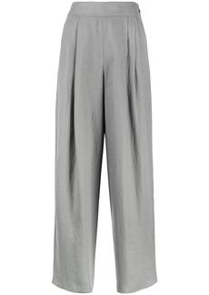 Armani pleated wide-leg trousers