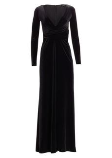 Armani Plunge Neck Velvet Gown