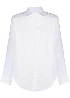 Armani point-collar linen shirt