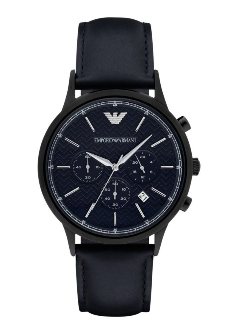 Armani Polished Round Stainless Steel Watch