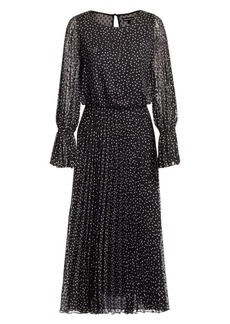 Armani Polka Dot Pleated Tea Dress