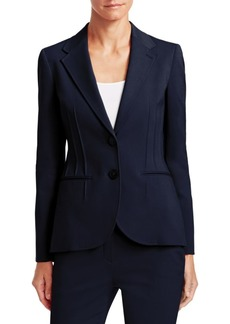 Armani Poplin Two-Button Blazer
