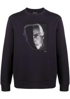 Armani portrait print sweatshirt