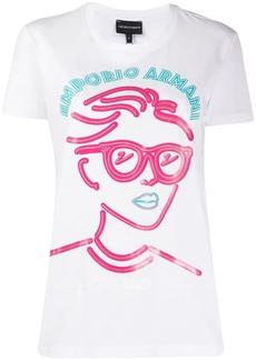 Armani portrait print T-shirt