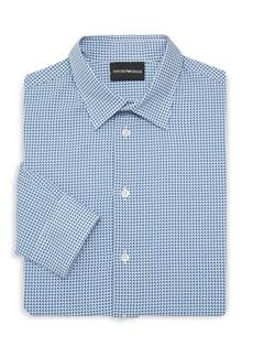 Armani Printed Cotton Dress Shirt