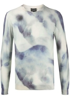 Armani printed crew-neck jumper