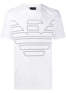 Armani printed eagle logo T-shirt