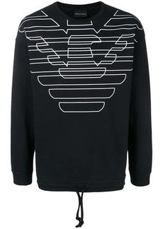 Armani printed logo sweatshirt